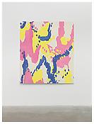<i>MoM Block Nr. 25</i> 1997 Acrylic on cotton 63 x 55 inches; 160 x 140 cm