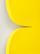 Ellsworth Kelly <I>Yellow Curves</i> 2014 Painted aluminum 90 x 63 1/2 x 4 1/8 inches; 229 x 161 x 11 cm