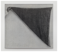 <i>Black veil</i>  2014 Ink on paper in artist's frame  59 1/2 x 65 1/8 inches; 151 x 165 cm