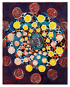 <i>patterns in a chromatic field (9)</i> 2013 Oil on linen 40 x 32 inches; 102 x 81 cm