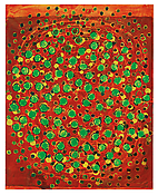 <i>patterns in a chromatic field (10)</i> 2013 Oil on linen 40 x 32 inches; 102 x 81 cm