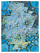 <i>Blue Figure</i> 2013 Oil on linen 80 x 60 inches; 203 x 152 cm
