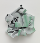 <I>Untitled</i> 2014 Resin clay, acrylic paint 26 x 28 x 8 inches; 66 x 71 x 20 cm