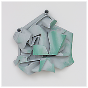 <i>Untitled</i>   2014    Resin clay, acrylic paint    26 x 28 x 8 inches 66 x 71 x 20 cm