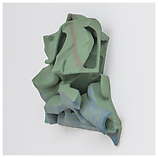 <i>Untitled</i> 2014    Resin clay, acrylic paint    24 x 26 x 8 inches 61 x 66 x 20 cm