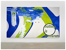 <i>nothing is permanent</i> 2000 Acrylic on canvas 102 3/8 x 177 1/8 inches; 260 x 450 cm