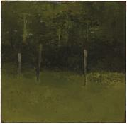 <i>Edge of the Forest</i> c. 1963 Oil on canvas mounted on Masonite 10 1/2 x 10 3/4 inches; 27 x 27 cm