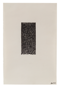 Brice Marden <i>Untitled</i> 1972-73 Ink on paper 11 3/4 x 7 3/4 inches; 30 x 20 cm