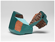 <i>Reltny</i> 1983 Fired and painted clay 2 3/4 x 5 1/4 x 2 3/4 inches 7 x 13 x 7 cm