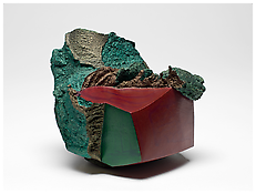 <i>Chinese Block</i> 1984 Fired and painted clay 4 1/2 x 5 1/4 x 4 1/2 inches 11 x 13 x 11 cm
