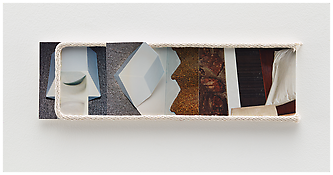 <i>Untitled</i> 2014   Mixed media collage    4 1/4 x 14 1/4 x 1/2 inches 11 x 36 x 1 cm