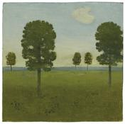 <i>The Meadow, East Hampton</i> c. 1964 Oil on wood 10 x 10 1/8 inches; 25 x 26 cm