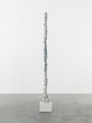 Rebecca Warren <I>So Long Marianne</i> 2014 Hand-painted bronze on painted MDF pedestal 110 7/8 x 12 x 11 inches; 282 x 30 x 28 cm