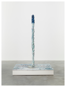 <i>Jeu Jeun</i> 2014 Hand-painted bronze and pompom on painted MDF pedestal 74 1/2 x 49 1/4 x 39 inches; 189 x 125 x 99 cm
