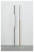 <i>Autumn Winter</i> 2014 Steel, wood and pompom Left: 111 1/4 x 2 3/8 x 2 3/4 inches; 283 x 6 x 7 cm Right: 111 1/4 x 4 7/8 x 2 inches; 283 x 12 x 5 cm