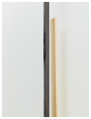 <i>Autumn Winter</i> (detail) 2014 Steel, wood and pompom Left: 111 1/4 x 2 3/8 x 2 3/4 inches; 283 x 6 x 7 cm Right: 111 1/4 x 4 7/8 x 2 inches; 283 x 12 x 5 cm