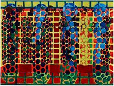 <I>Red Yellow Green Blue</i> 2014 Oil, wax, and alkyd on linen 90 x 120 inches 229 x 305 cm