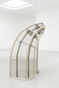 <i>Faux Vitrine</i> 2014 Mirror polished stainless steel, curly maple, black walnut, marine plywood, Japan color 73 3/4 x 46 1/2 x 40 3/4 inches; 187 x 118 x 104 cm