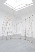 <i>Untitled</i> 2014 Hardwood saplings, cordage 174 1/2 x 148 x 52 inches; 443 x 376 x 132 cm