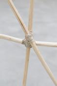 <i>Untitled</i> (detail) 2014 Hardwood saplings, cordage 174 1/2 x 148 x 52 inches; 443 x 376 x 132 cm
