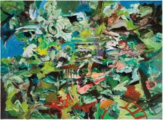 Cecily Brown <i>LOL tinkle battleground</i> 2010-2014 Oil on linen 12 3/4 x 17 1/8 inches; 32 x 44 cm