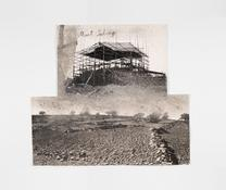 Anslem Kiefer <i>Mont Salvage</i> 2009 Charcoal and ash on cut, torn, and pasted photographs 44 1/8 x 50 inches; 112 x 127 cm