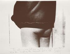 "Kate Millett <i>Jennifer: ""Art and Life""</i> 1991 Serigraph printed on Strathmore rag paper 19 1/4 x 25 inches 49 x 64 cm"