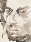 Elizabeth Peyton <i>Jonas Kaufmann</i> 2013 Watercolor on paper 12 x 9 inches; 31 x 23 cm