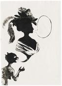 Kara Walker <I>Untitled</i> 1993 Unique ink transfer on paper 50 x 38 inches; 127 x 97 cm