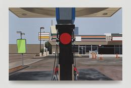 <I>Mobil</i>  1996 Oil on linen 37 x 57 inches; 94 x 145 cm