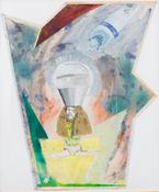 Mike Kelley <i>Jim Shaw Shark Bait</i> 1976 Mixed media on paper 24 x 21 1/4 inches; 61 x 54 cm