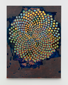 <I>King's Blue</i> 2015 Oil, wax, and resin on linen  80 x 60 inches; 203 x 152 cm