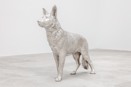 Charles Ray  <I>Silver</i> 2015 Sterling silver 42 3/8 x 11 1/4 x 48 inches; 108 x 29 x 122 cm