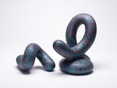 <I>Lustus</i> 2009 Fired and painted clay  9 x 9 x 6 1/2 inches; 23 x 23 x 17 cm