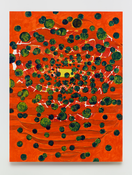 <I>Yellow Aperture</i>  2014 Oil, wax, and alkyd on linen  80 x 60 inches; 203 x 152 cm