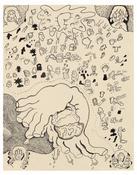 <I>Handbag</i> 1968 Ink on paper  19 x 15 inches; 48 x 38 cm