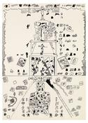 <I>Big Policeman</i> c. 1968 Ink on glossy paper  25 x 18 inches; 64 x 46 cm