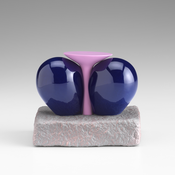 <I>Mutha Fakir</i> 2015 Ceramic, glaze, catalyzed polyurethane, epoxy resin 3 3/4 x 4 x 2 5/8 inches; 10 x 10 x 7 cm