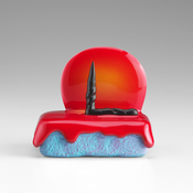 <I>Handsome Drifter</i> 2015 Ceramic, glaze, catalyzed polyurethane, epoxy resin 3 3/4 x 4 x 3 inches; 10 x 10 x 8 cm