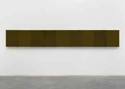 <I>Eastern Moss</i> 2012-2015 Oil on linen, nine panels Each: 24 x 18 inches; 61 x 46 cm Overall: 24 x 162 inches; 61 x 412 cm