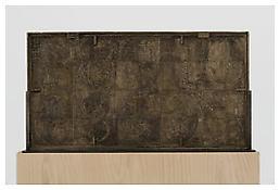 <i>0 - 9</i>, verso, 2009, White bronze, 20 1/8 x 37 3/4 x 1 3/8 inches; 51 x 96 x 4 cm