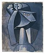<i>Tête à la coiffe</i> 1947 Oil on canvas 28 3/4 x 23 3/4 inches