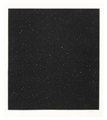<I>Untitled (Large Night Sky)</i> 2016 Mezzotint on Hahnemühle copperplate bright white paper in artist's frame 41 1/4 x 36 inches; 105 x 91 cm Edition of 40