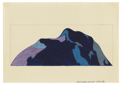 <I>Reflecting Bump</i> 1967 Graphite and acrylic on paper  9 3/4 x 13 3/4 inches; 25 x 35 cm