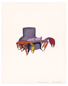 <I>Crab Cup</i> 1970 Graphite and acrylic on board  14 x 11 inches; 36 x 28 cm