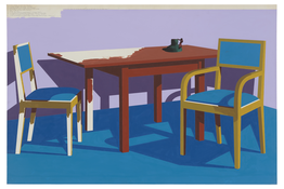 <I>Coffee Shop at the Chicago Art Institute</i> 1971 Acrylic and ink on board 40 x 60 inches; 102 x 153 cm