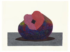<I>Sculpture</i> 1990 Acrylic and ink on paper  22 1/2 x 30 1/8 inches; 57 x 77 cm