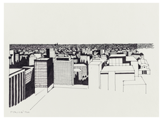 <I>Downtown L.A.</i> 1990 Ink on paper 10 1/2 x 14 inches; 27 x 36 cm