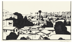 <I>West L.A.</i>  1990 Ink on vellum 6 1/4 x 10 1/2 inches; 16 x 27 cm