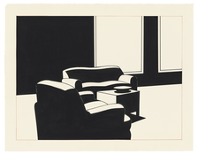 <I>Interior</i> 1994 Ink and colored pencil on paper  20 3/8 x 26 inches; 52 x 66 cm